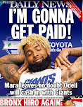 Daily News goes with Odell... again