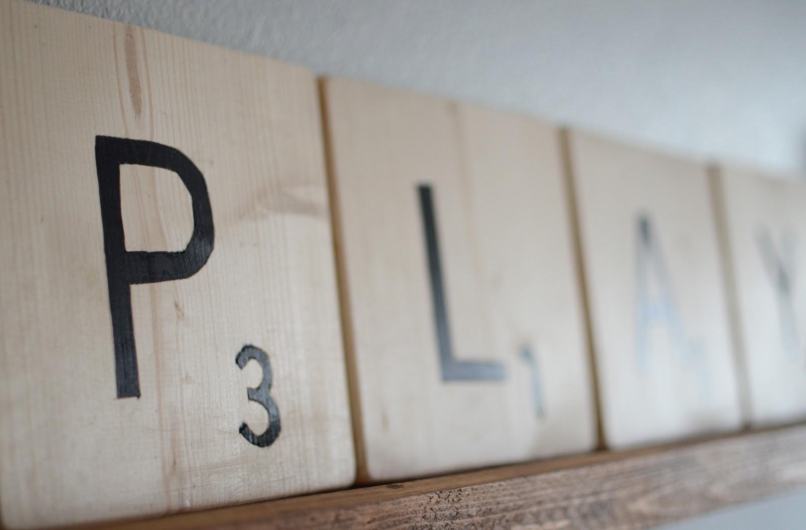 diy nordstrom inspired oversized scrabble letters