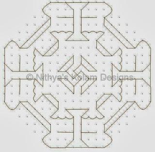 2 Deepam kolam with dots 20 to 8