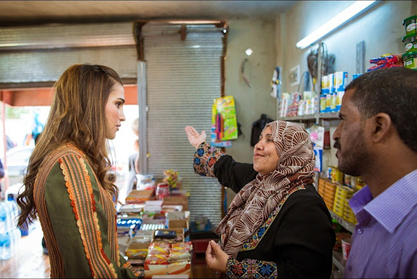 Queen Rania of Jordan visited Pella north of Amman, in Northern Ghor