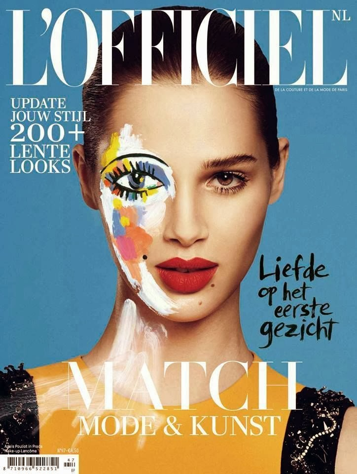 Magazine Cover : Anais Pouliot Magazine Photoshoot Pics on L'Officiel Magazine Netherlands February 2014