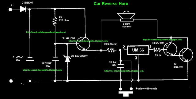 car reverse horn circuit learning rh circuitlearning blogspot com Horn Relay Circuit Horn Relay Circuit
