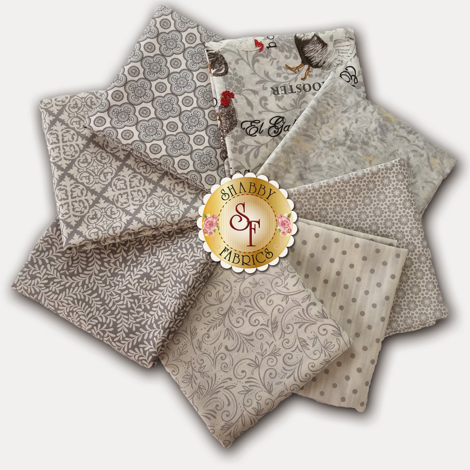 Ivory El Gallo 8 Fat Quarter Set