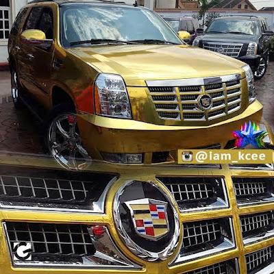 """""""Limpopo"""" crooner Kcee Acquires 2014 Cadillac Escalade (Photos)"""