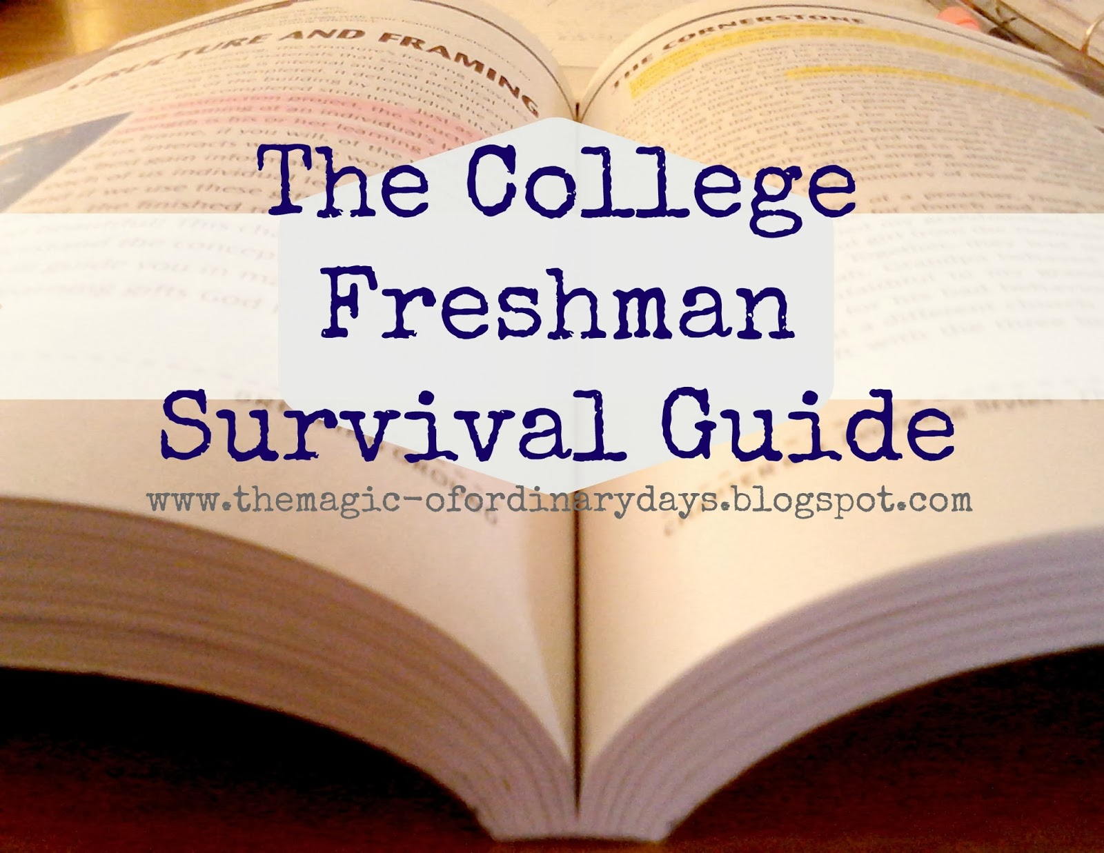 the magic of ordinary days the college freshman survival guide the college freshman survival guide congratulations you ve made it to the first week of college d