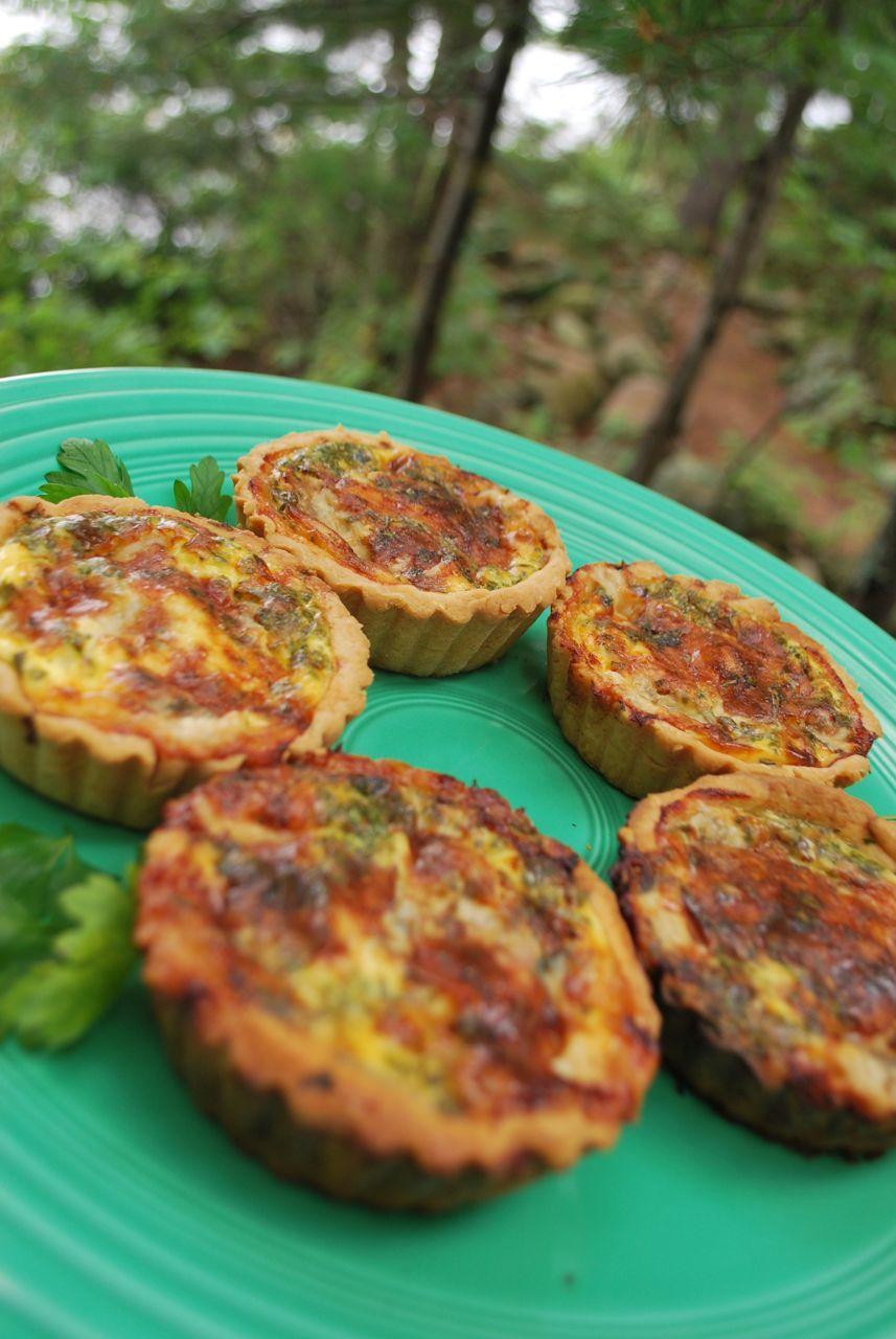 Scrumpdillyicious: Gorgonzola, Pancetta & Onion Quiche