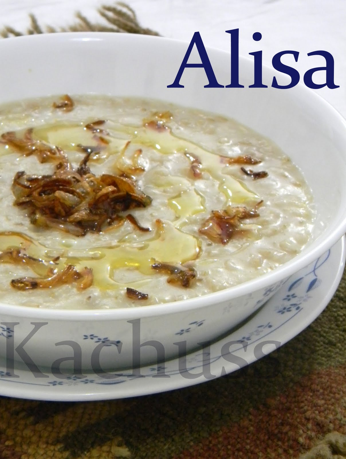 Kachuss delights alisa arees we usually have it plain or with some delicious chicken or beef fry branless wheat is used in this recipe vegetarians can avoid chicken forumfinder Gallery