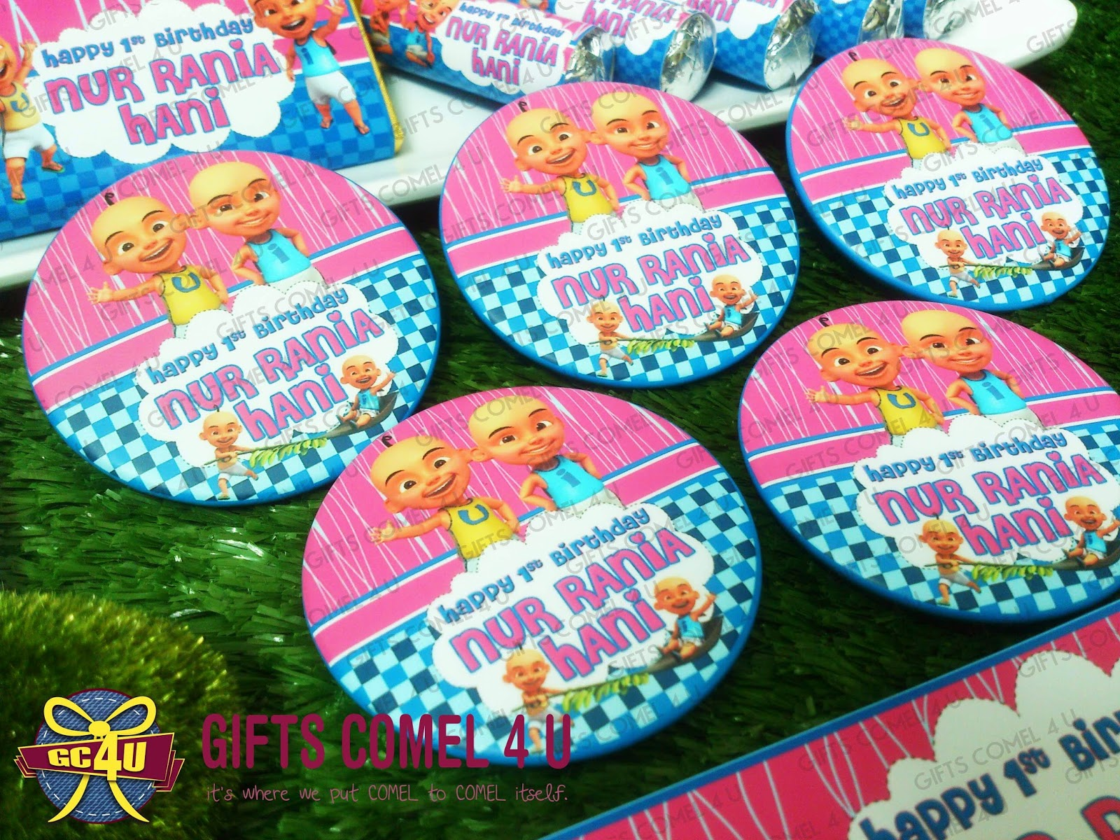 Gifts comel 4 u ordered by rasyidah binti rahit upin ipin upin ipin bluepink theme button badge 58cm stopboris Image collections