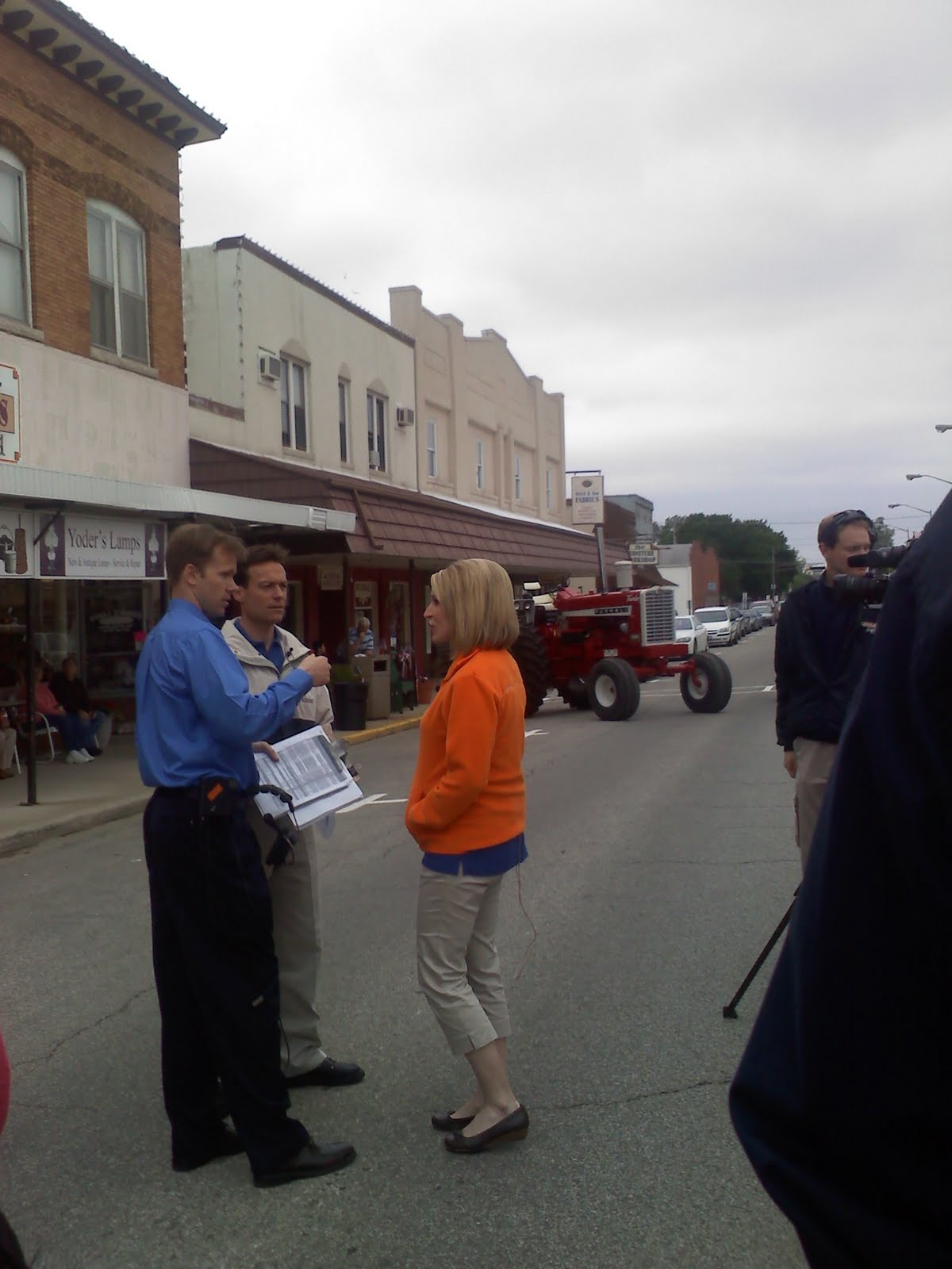 The Rural Freelance Writer: WCIA CHANNEL 3 NEWS Visits Arthur, IL