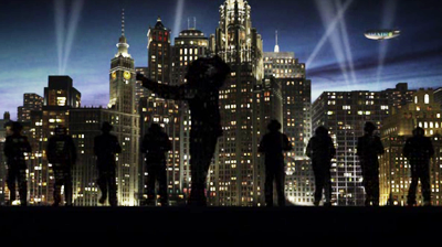 Michael Jackson's – This is it - Smooth Criminal silhouettes on stage.