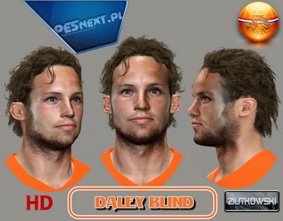 PES 2014 Daley Blind Face by ZIUTKOWSKI