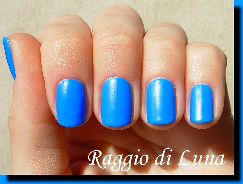 Blue Matte Nail Polish