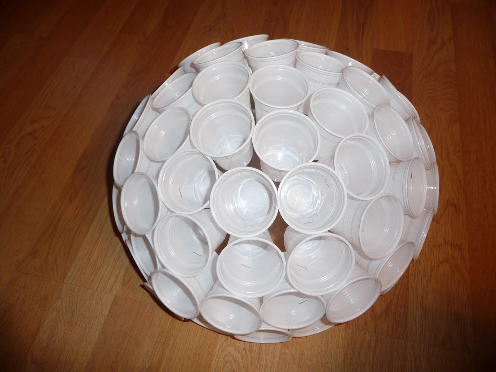 Ma vie courante tuto de la lampe design gobelet - Bonhomme de neige en gobelet plastique ...