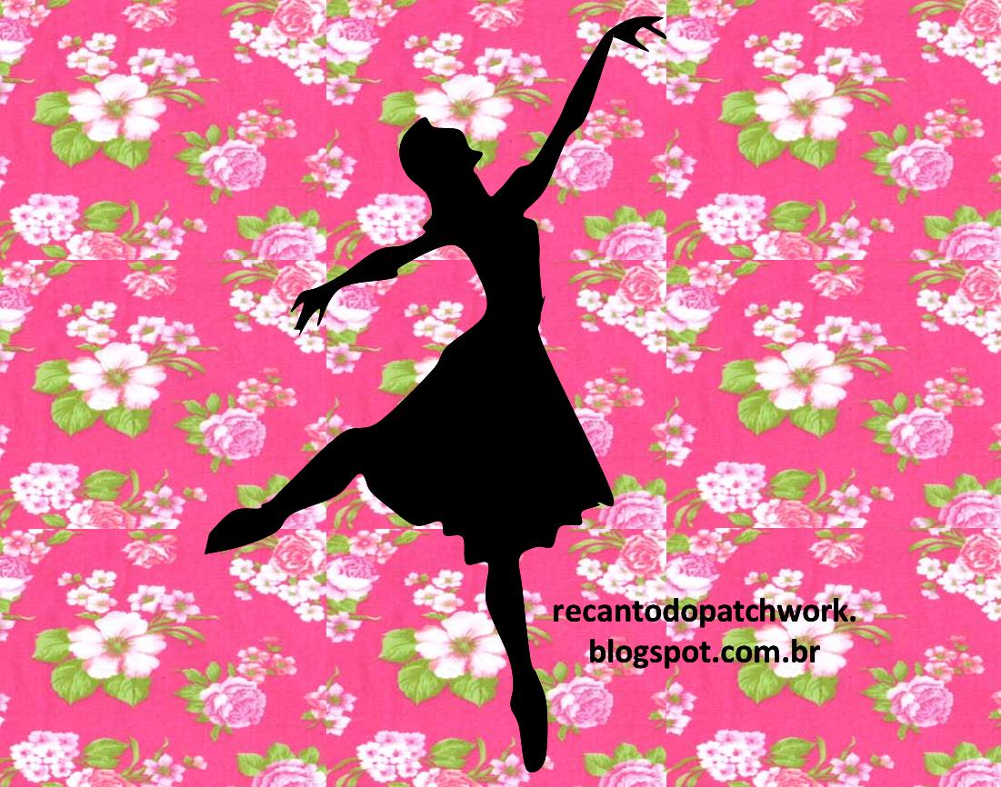 Desenho de bailarina para patchwork