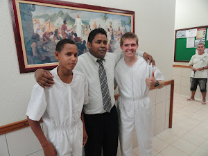 Luan, Irmão Cicero the ward mission leader and me