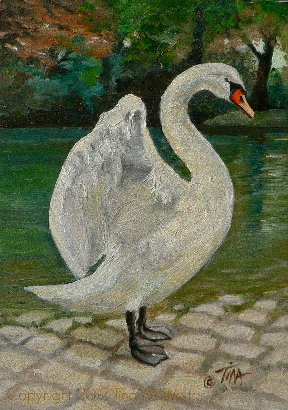 """7""""x 5"""" oil on """"Gessobord"""" copyright 2012 Tina M. Welter"""