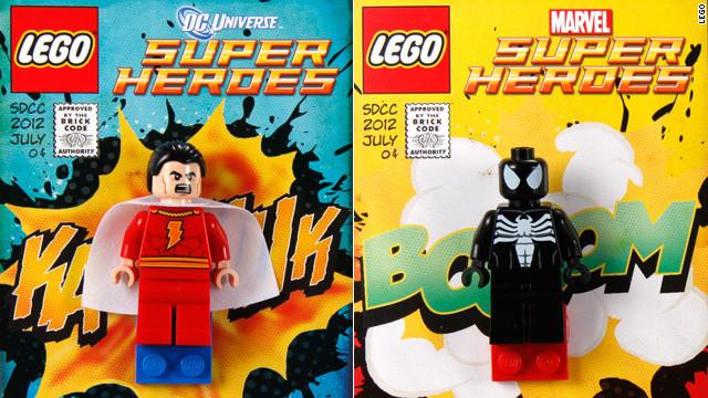 Marvel dc universe lego mini figures shazam aka captain marvel