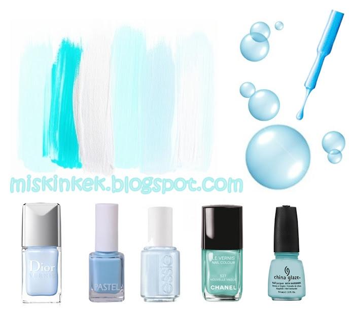 oje renkleri,açık mavi oje,mavi ojeler,moda renkler