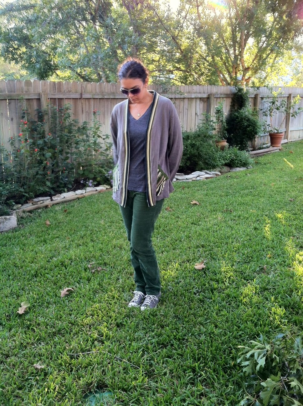 refashioned corduroy pants