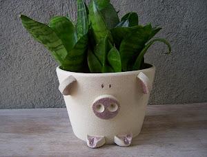 Porco Cachepot (pote 11)