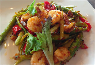 Stir Fried Asparagus with Sambal Prawn U-Cafe