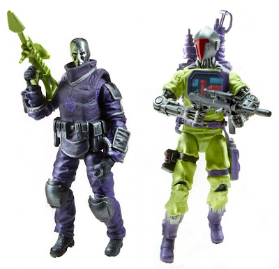 SDCC 2012 Exclusive Transfromers x G.I. Joe Shockwave H.I.S.S. Tank Set - Destro & B.A.T. Action Figures