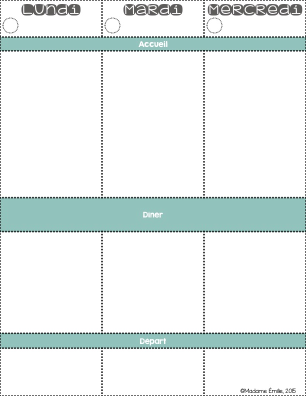 mme milie freebie cahier de planification. Black Bedroom Furniture Sets. Home Design Ideas