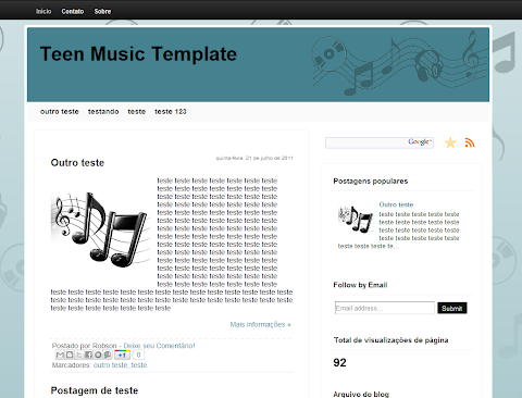 Teen Music Blogger Theme