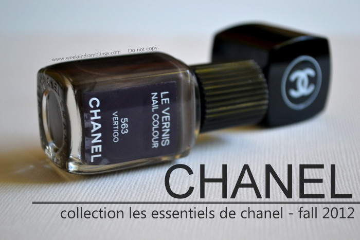 Chanel Makeup Fall 2012 Les Essentiels de le vernis nail polish lacquer color notd swatches beauty blog reviews vertigo