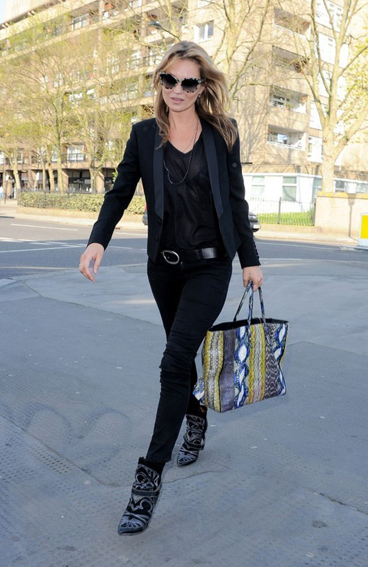 Kate Moss Isabel Marant Boots Givenchy Bag All Black