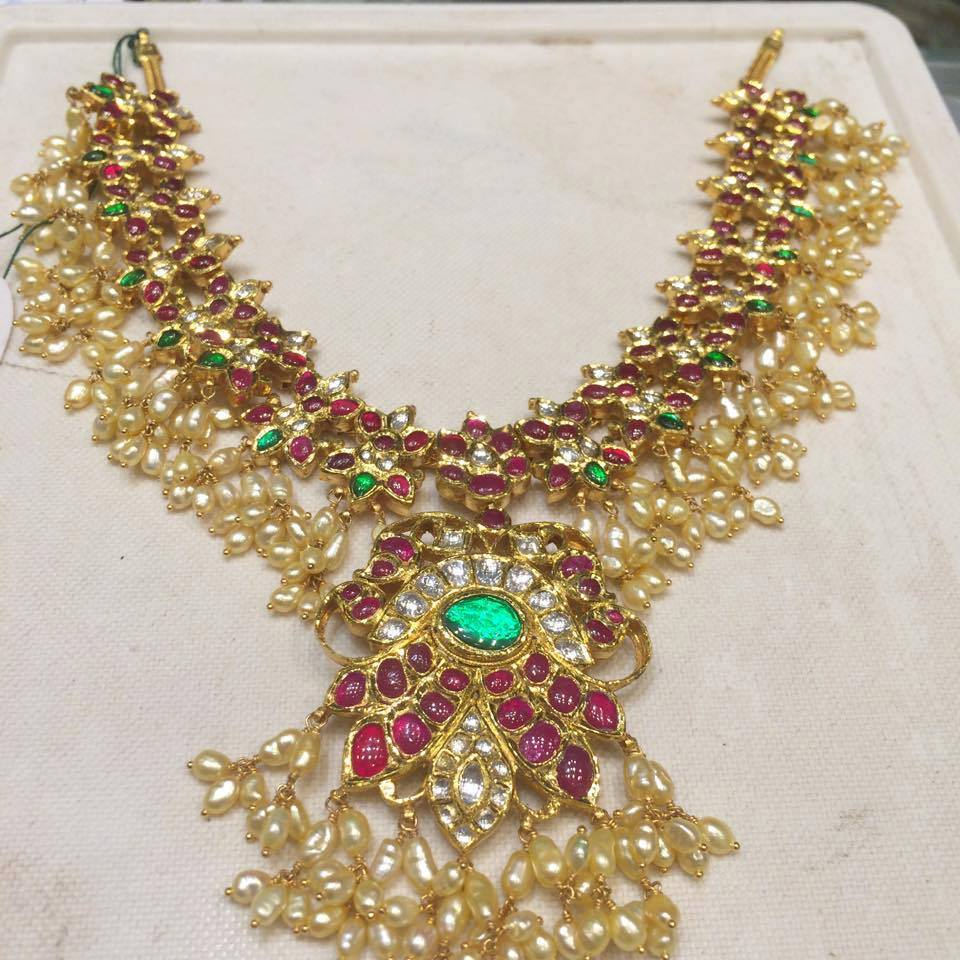 Gutta Pusala Necklace And Haram Sets Collection Sudhakar