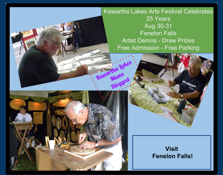 Kawartha Arts Festival August 30-31st  Artist Demos Draw prizes Free Admission Fre Parking Celebrating 25 years