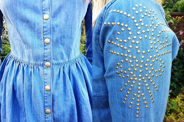 denim studs Topshop