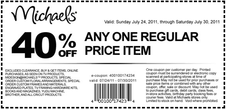 Michaels craft store coupons canada