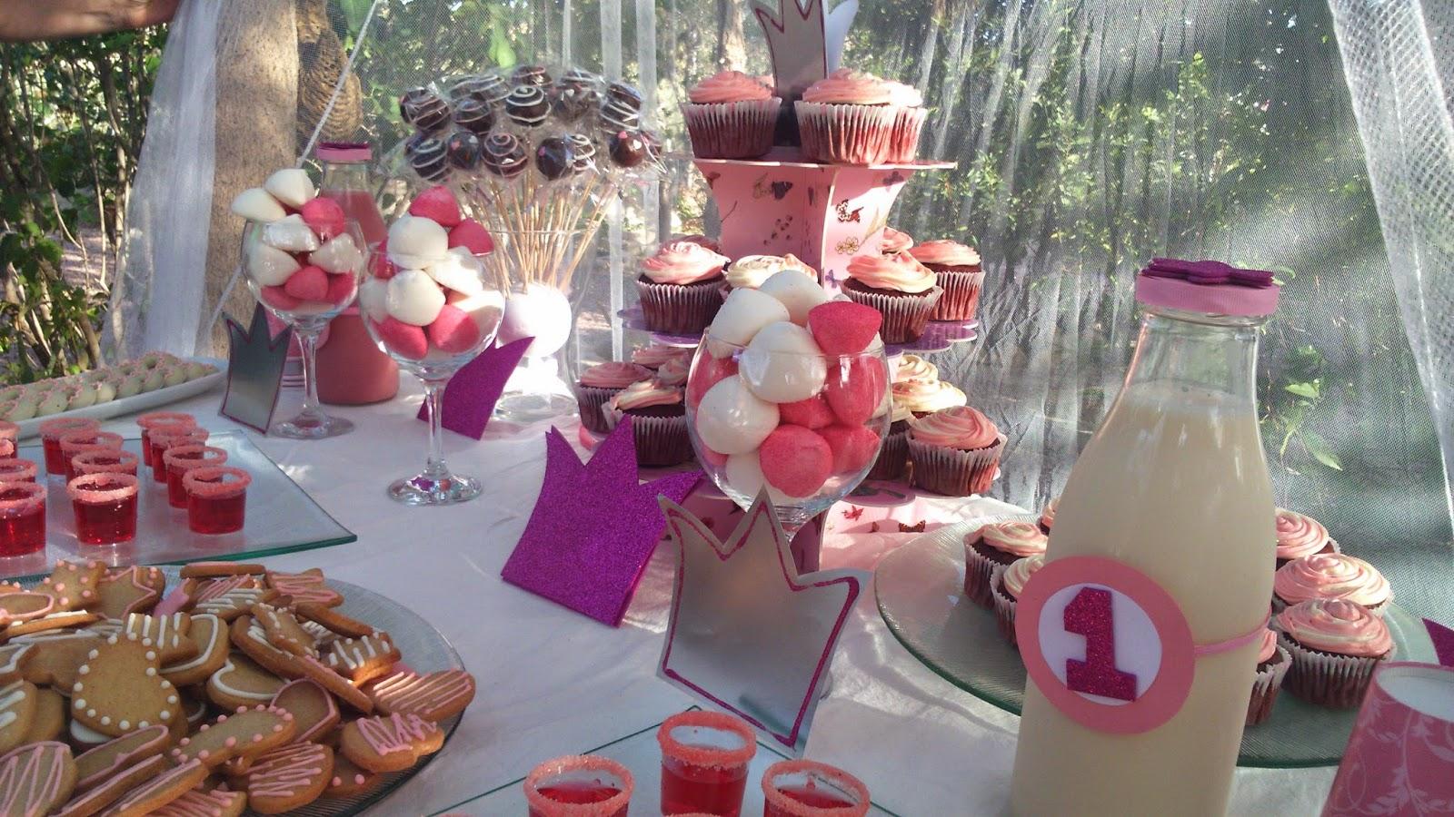 rosa, mesa dulce, princesas, fiesta