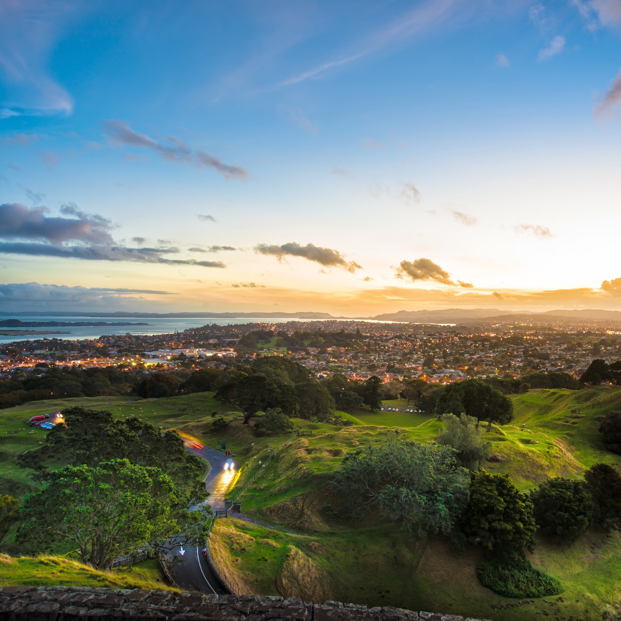 Lightroom tutorials sunset landscape of auckland new zealand for Landscaping auckland