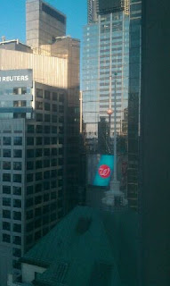 Picture taken from Hilton hotel room. Over looks buildings in 42nd Street, New York City