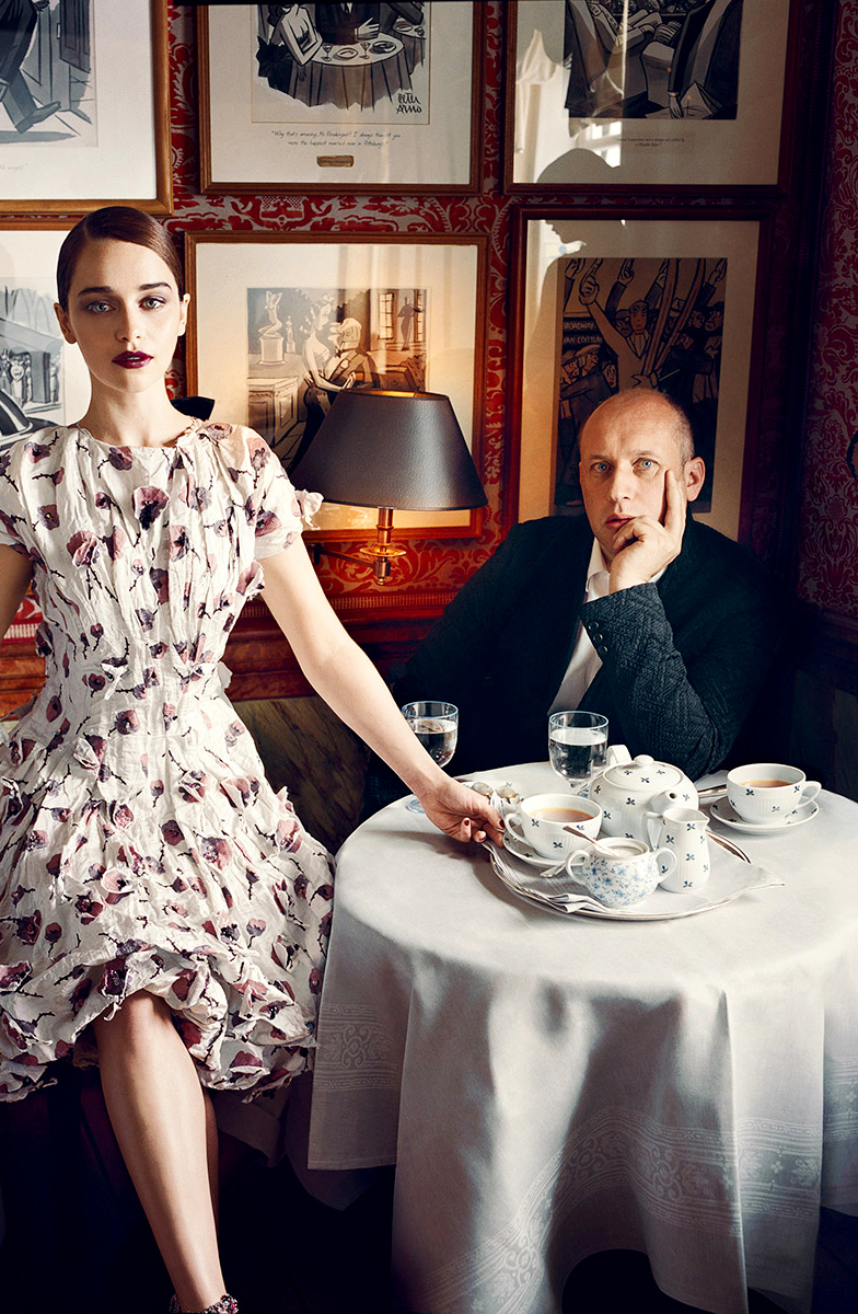 Peter Copping goes to Oscar de la Renta | Photo: Vogue US September 2012