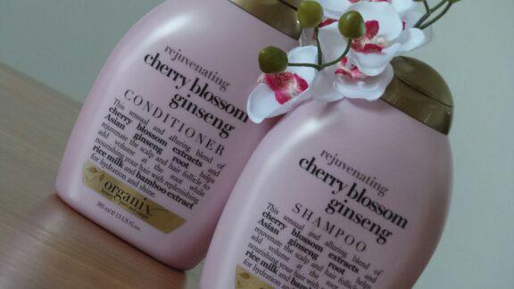 Image of Organix rejuvenating Cherry Blossom Ginseng Shampoo