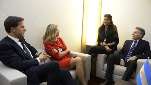 Queen Maxima of the Netherlands attends the 2016 World Economic Forum (WEF) annual meeting in Davos, Switzerland