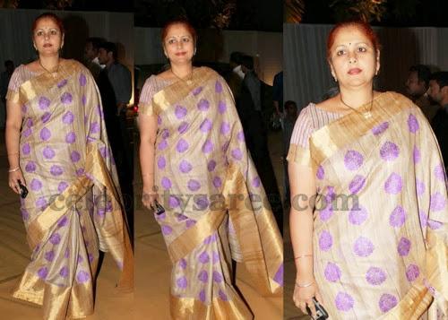 Jayasudha Purple Thread Work Saree