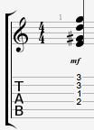 E7#9 guitar chord