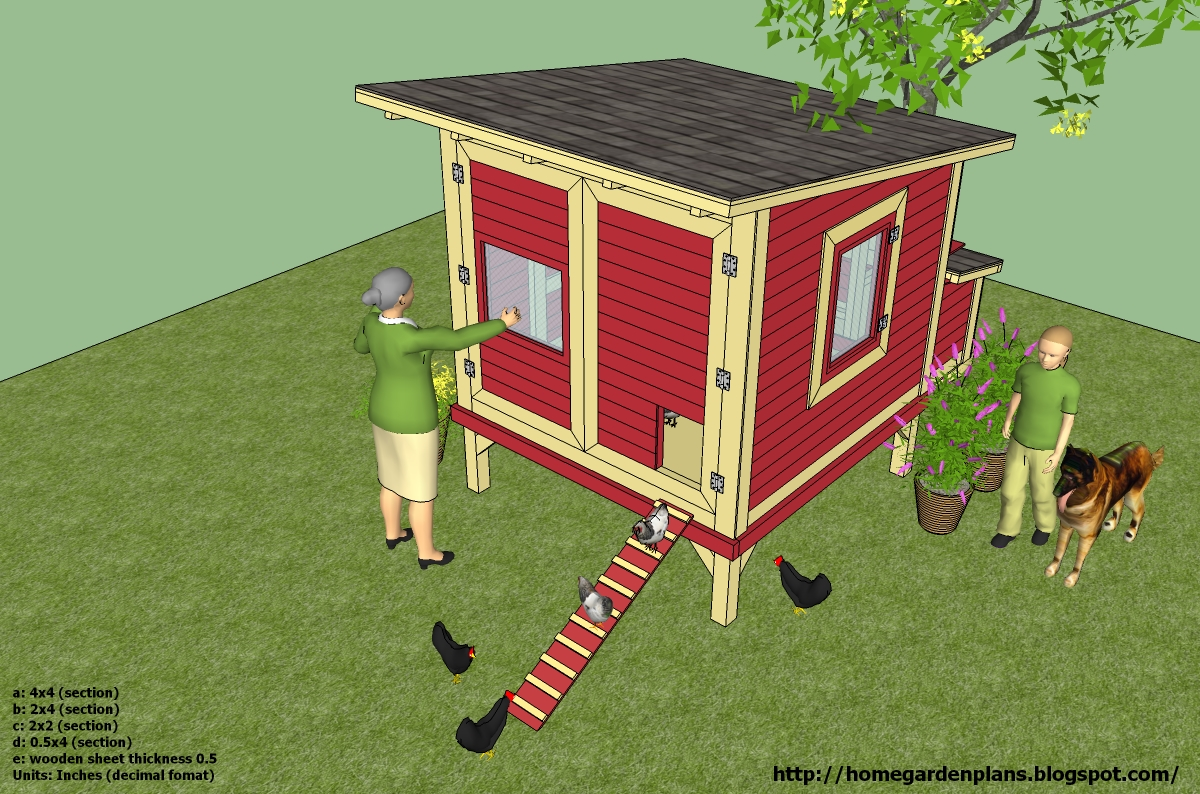 Home garden plans l300 chicken coop plans construction for Plans chicken coop