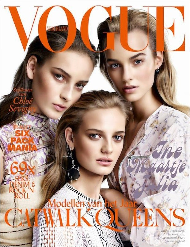 Model @ Ine Neefs, Julia Bergshoeff & Maartje Verhoef for Vogue Netherlands