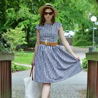 Selbstgenähtes Vichykaro-Kleid