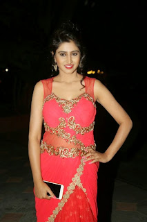 Shamili Transparent Red Saree Latest Unseen Pictureshoot (9).JPG