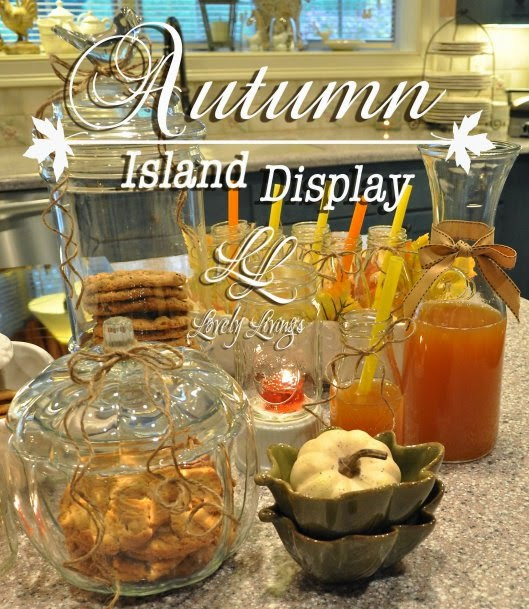 FeaturedLovely Livings shared her Beautiful Autumn Island Display at One More Time Events.com