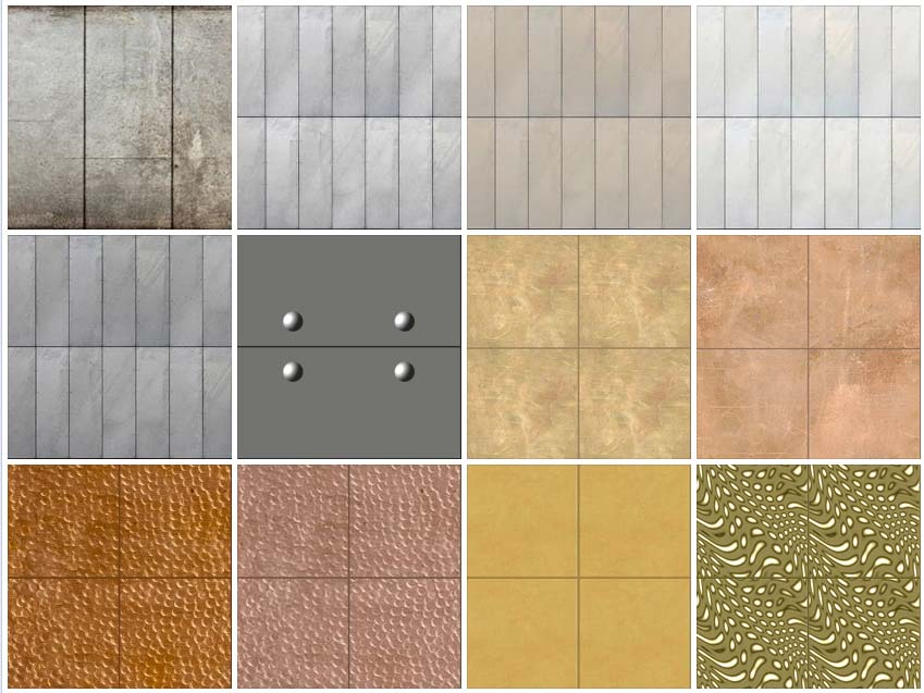 Metal Panel Texture : Sketchup texture metals panels