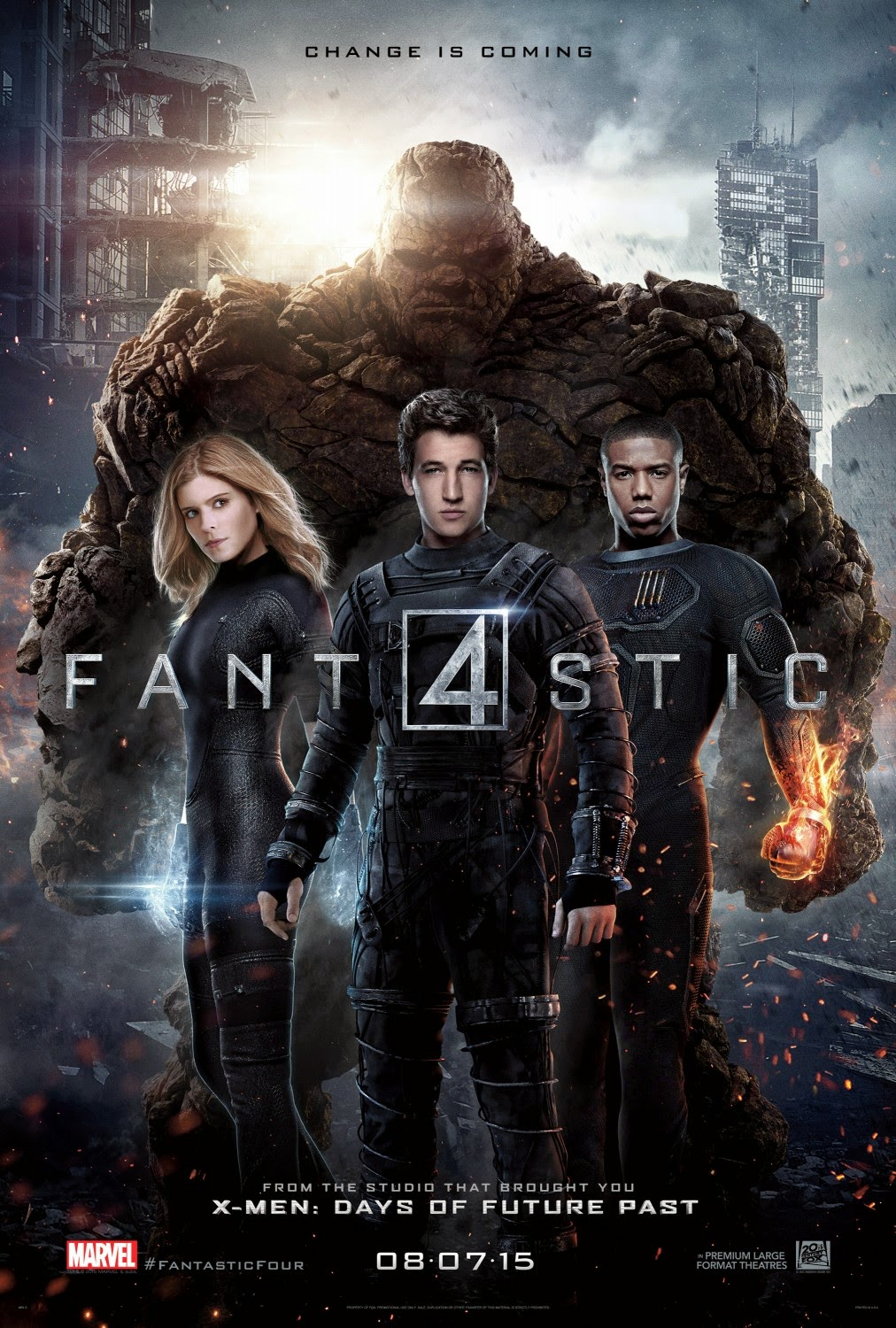 Fantastic Four Final Teaser Theatrical One Sheet Movie Poster