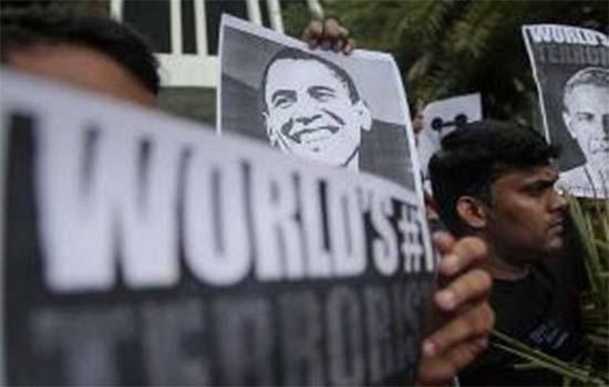 Kedutaan AS dibanjiri dengan demonstrasi penindasan Barat dan Zionisme